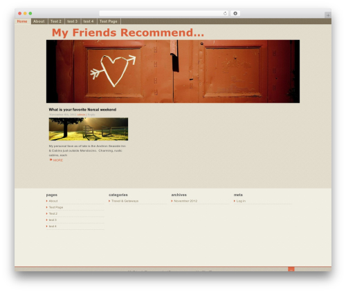 Fragrance top WordPress theme - myfriendsrecommend.org