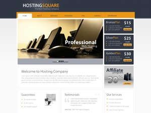 Hosting Square WordPress template for business