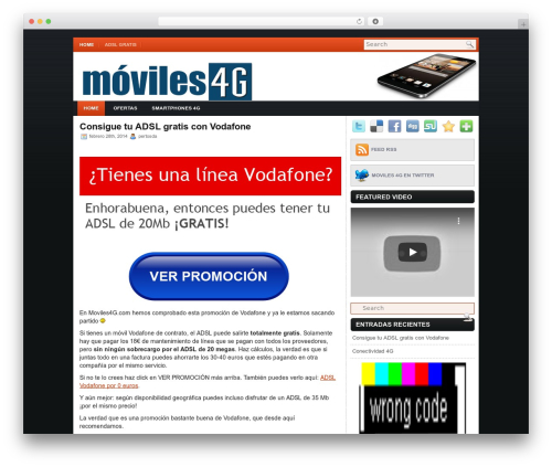 iMobile template WordPress - moviles4g.com