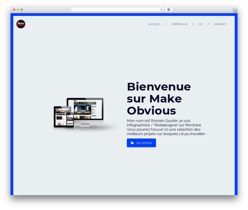 Infi theme WordPress portfolio - makeobvious.com