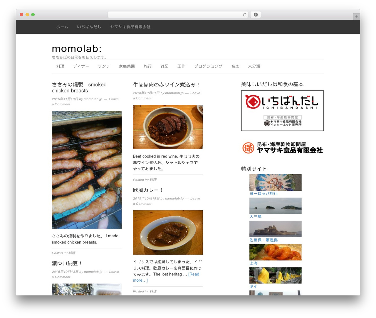 Magazine WordPress news template - momolab.jp