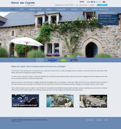 Manoir des cognets WordPress theme