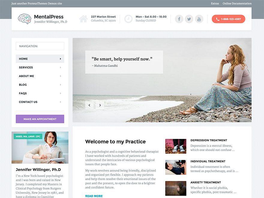 MentalPress Child Theme theme WordPress