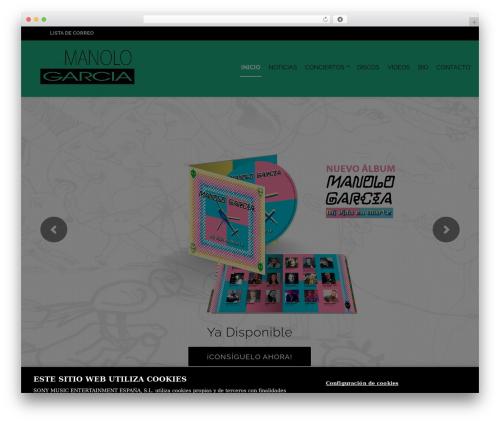 Music Club WordPress theme - manolo-garcia.com