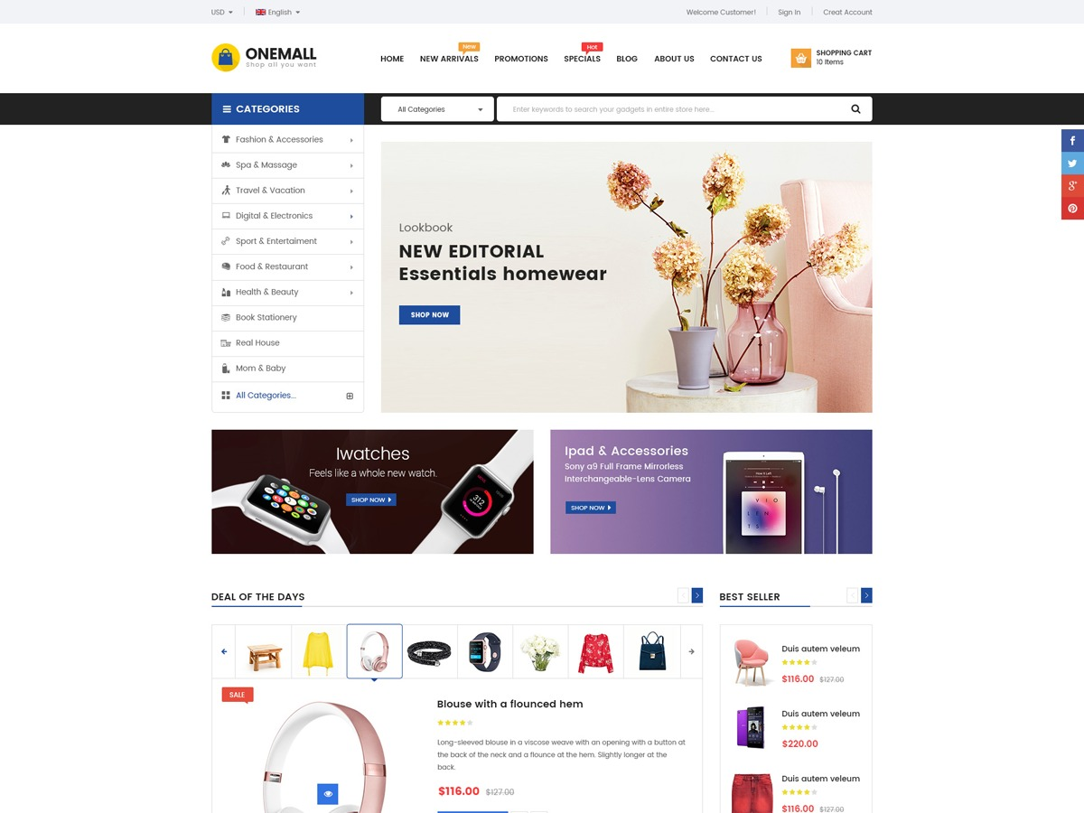OneMall best WooCommerce theme