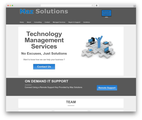 Responsive theme WordPress free - mazsolutions.com