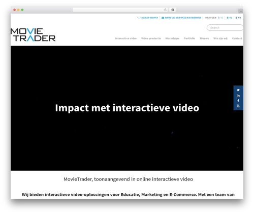 Salient WordPress theme - movietrader.nl