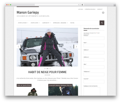StyleMag WordPress theme - manongariepy.ca