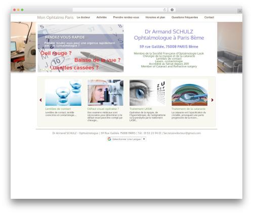 WordPress Theme 1269 WP theme - monophtalmoparis.com