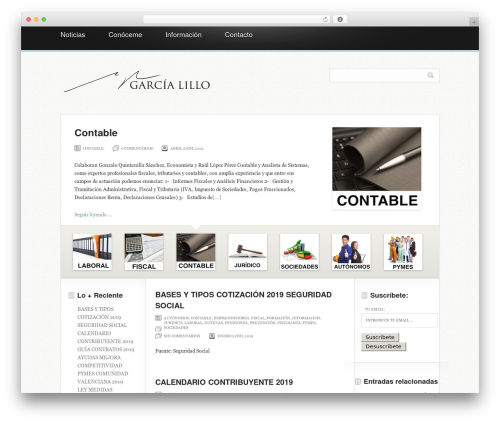 WordPress theme Magazine - miguelangelgarcialillo.es