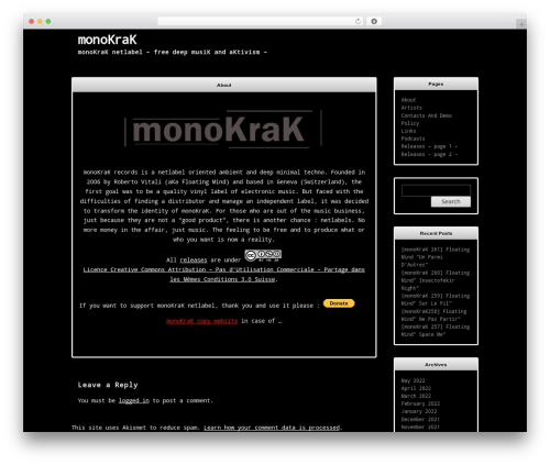 WordPress theme Terminally - monokrak.net