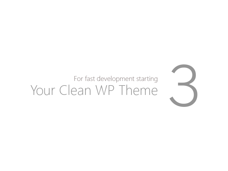 WordPress theme your-clean-template-3