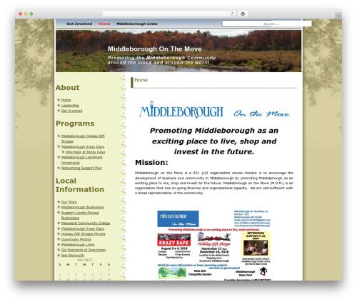 WordPress website template Maple Leaf - middleboroughonthemove.org