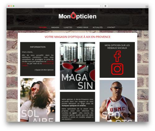 Auxane Opticiens WP theme - monopticien-aix.fr