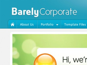 Barely Corporate company WordPress theme