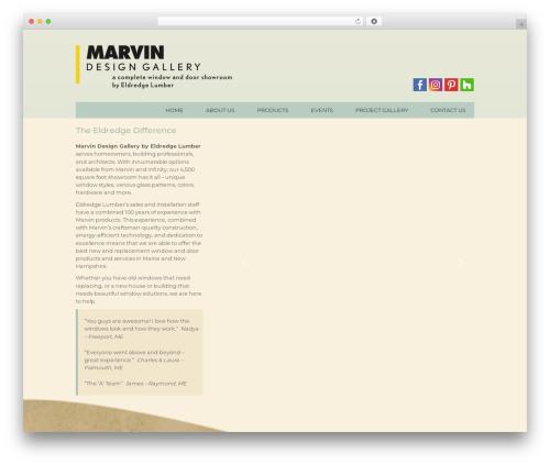 Best WordPress template Marvin - marvinbyeldredge.com