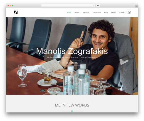 Best WordPress theme Revelance - manoliszografakis.com