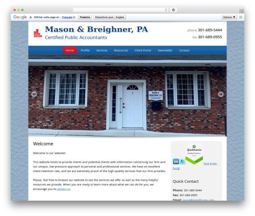 Customized premium WordPress theme - mandbcpas.com