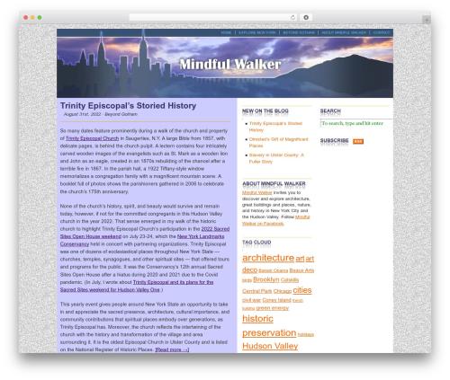 Cutline 3-Column Right WordPress theme - mindfulwalker.com