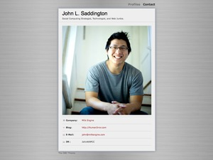 Digital Business Card WordPress template for business