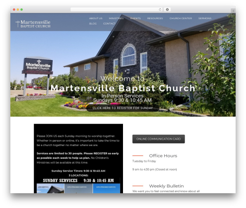 Grace-church theme WordPress - martensvillebaptist.com