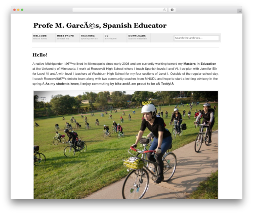 Grid Focus WordPress website template - marthagarces.com