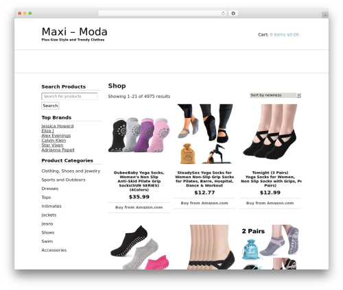 JShop WordPress shop theme - maxi.moda