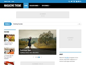 Magazine WordPress news theme
