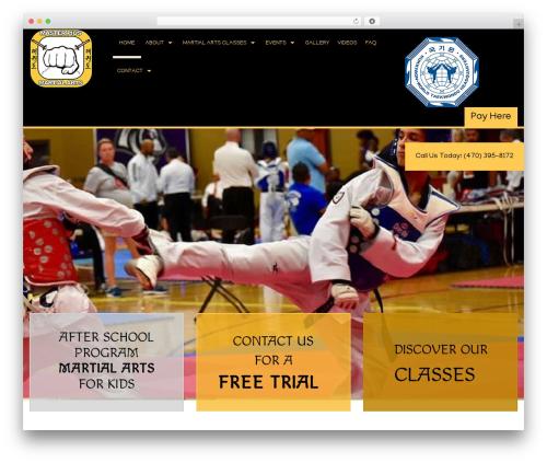 Martial Arts V8 WP template - masterpius.com/home