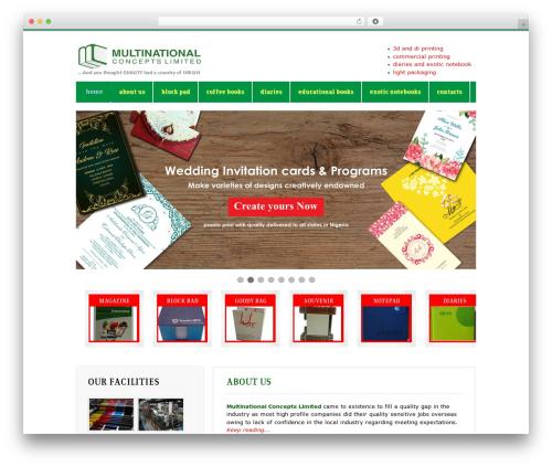 Mazine template WordPress - multinationalconcepts.com