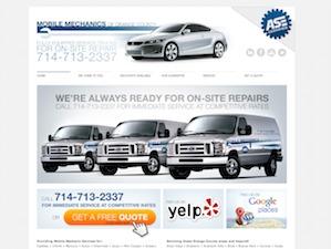 Mobile Mechanics company WordPress theme