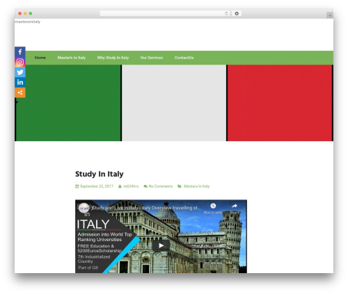 Newfangled free website theme - mastersinitaly.com