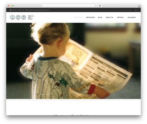 NOO Dreamer best WordPress theme - mastersthatmatter.com