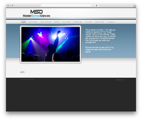 QualiFire best WordPress template - masterschooldances.com