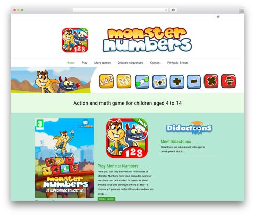 SeaSun free website theme - monsternumbers.net