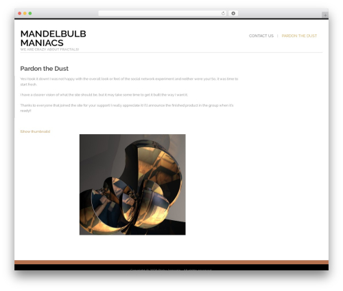 Shaped Pixels best WordPress theme - mandelbulbmaniacs.com