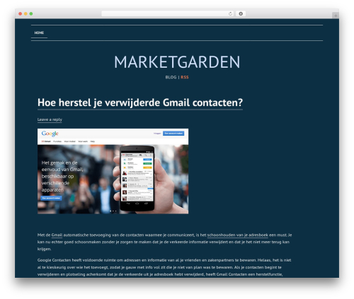 Template WordPress Deep Sea - marketgarden70.nl
