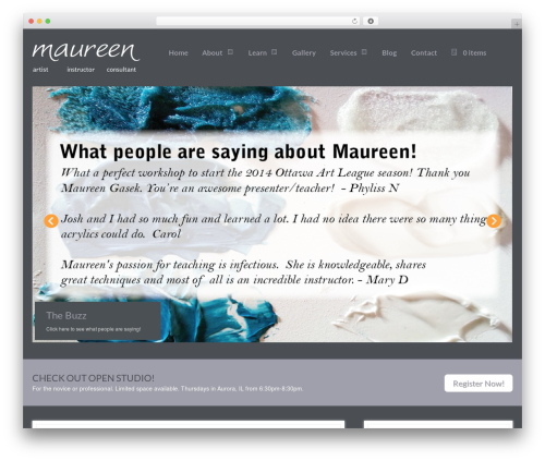 WordPress my-pinterest-badge plugin - maureengasek.com