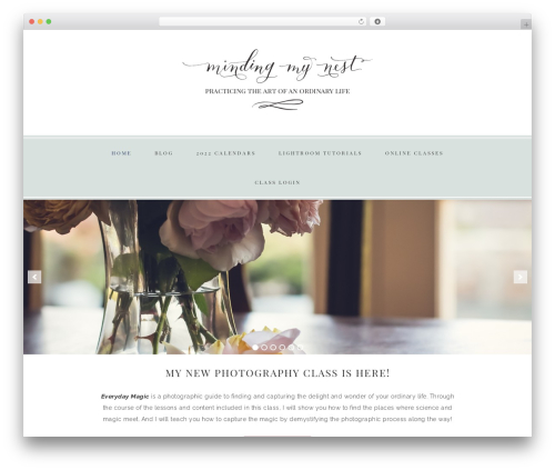 Theme WordPress Faithful Theme - mindingmynest.com