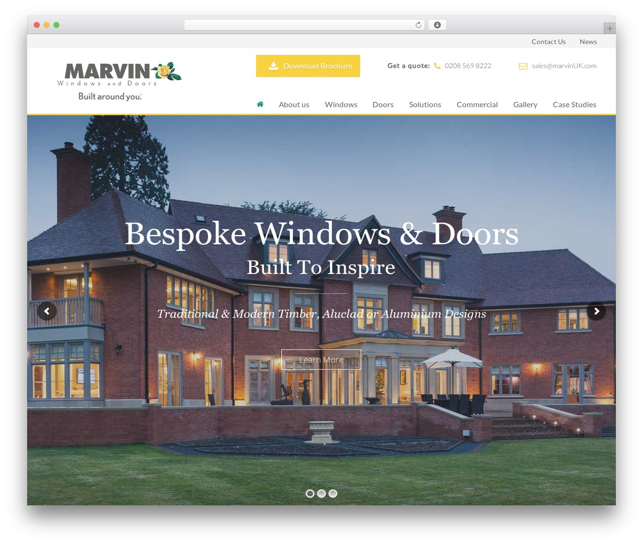 Theme WordPress Marvin - marvin-architectural.co.uk