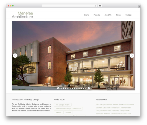 Theme WordPress Satellite7 - menefeearchitecture.com