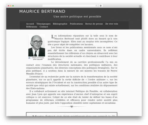 Theme WordPress The Erudite - maurice-bertrand.fr