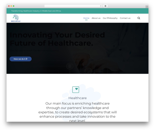(VamTam) Consulting premium WordPress theme - medrah.com