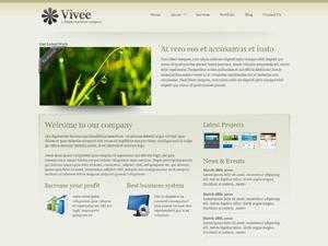 Vivee Brown WordPress theme design