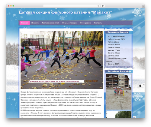 WordPress template Winter - malahit-skating.ru