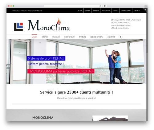 WordPress theme Avada - monoclima.ro