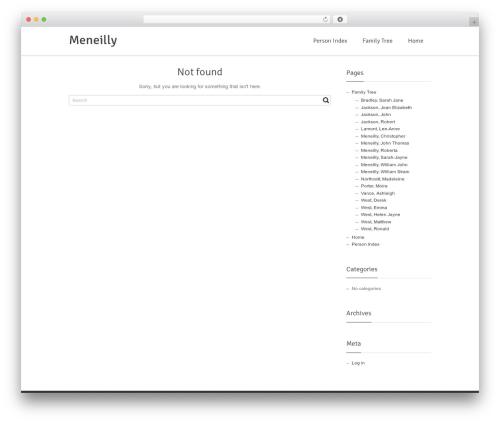 Free WordPress WP Family Tree plugin - meneilly.com