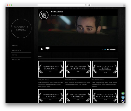 WP theme Widescreen - monoclestudio.com