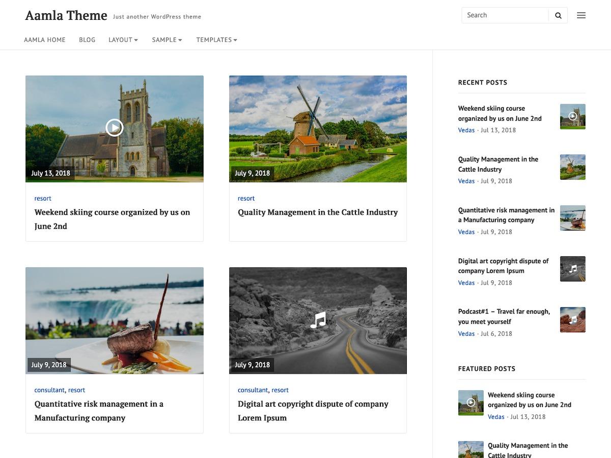 Aamla WordPress template for business