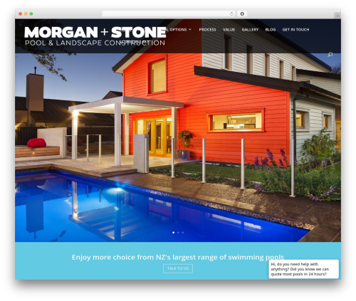 Best WordPress template Divi - morganstone.co.nz